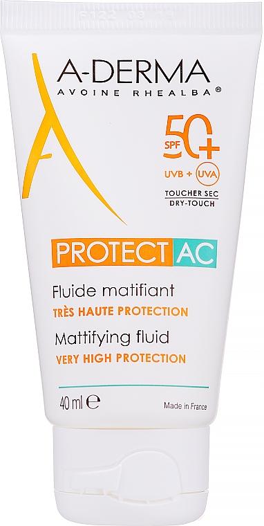 Fluide solaire matifiant visage - A-Derma Protect AC Mattifying Fluid SPF 50