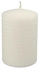 Parfums et Produits cosmétiques Bougie décorative blanche, 7x10 cm - Artman Candle Andalo