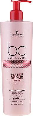 Baume lavant micellaire pour cheveux - Schwarzkopf Professional BC Bonacure Peptide Repair Rescue Micellar Cleansing Conditioner — Photo N1
