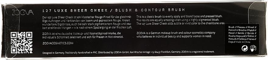Pinceau biseauté blush et contouring 127 - Zoeva Luxe Sheer Cheek — Photo N3