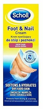 Crème pour pieds et ongles - Scholl Moisturizing Foot and Nail Cream