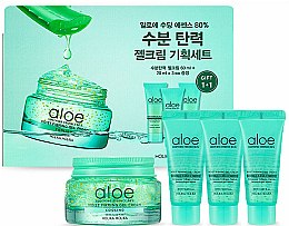 Parfums et Produits cosmétiques Holika Holika Aloe Soothing Essence 80% Moist Cream - Set pour visage (gel-crème/3x20ml + gel-crème/60ml)
