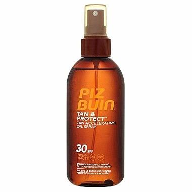 Huile accélératrice de bronzage en spray à la vitamine E - Piz Buin Tan&Protect Tan Accelerating Oil Spray SPF30 — Photo N1