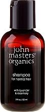 Parfums et Produits cosmétiques Shampoing pour cheveux normaux, Lavande et Romarin - John Masters Organics Lavender Rosemary Shampoo (mini)