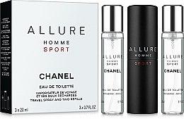 Parfums et Produits cosmétiques Chanel Allure homme Sport - Coffret (eau de toilette/20ml + recharge/2x20ml)