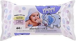 Parfums et Produits cosmétiques Lingettes nettoyantes à la vitamine E - Bella Baby Happy Vit E & Allantoin