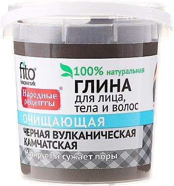 Argile noire du Kamchatka pour visage, corps et cheveux - FitoKosmetik Recettes folkloriques