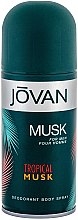 Parfums et Produits cosmétiques Jovan Tropical Musk - Déodorant spray