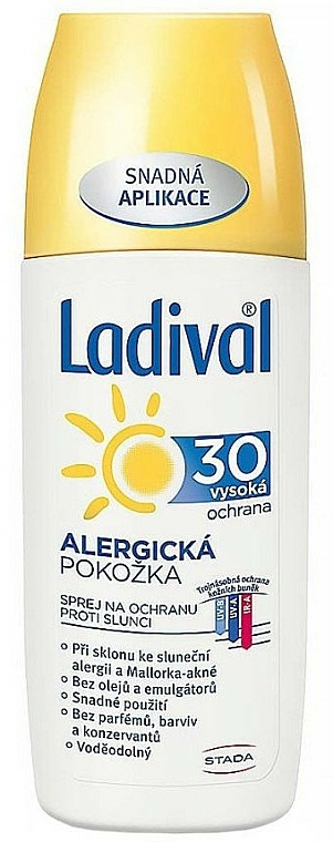 Spray solaire pour corps - Ladival Allerg Spray SPF30 — Photo N1