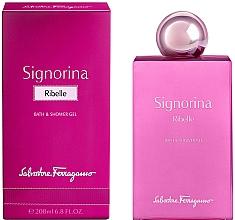 Parfums et Produits cosmétiques Salvatore Ferragamo Signorina Ribelle - Gel bain et douche