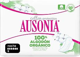 Parfums et Produits cosmétiques Protège-slips hygiéniques de nuit, 9 pcs - Ausonia Cotton Protection
