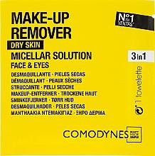 Parfums et Produits cosmétiques Lingettes démaquillantes pour peaux sèches - Comodynes Make Up Remover Micellar Solution Easy Cleanser