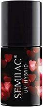Parfums et Produits cosmétiques Vernis à ongles hybride - Semilac Platinum UV Hybrid Valentine