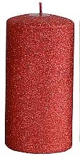 Parfums et Produits cosmétiques Bougie décorative, rouge, 7x14 cm - Artman Glamour