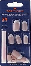 Parfums et Produits cosmétiques Kit de faux ongles avec colle French manucure, 74059 - Top Choice