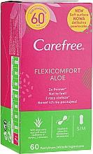Parfums et Produits cosmétiques Serviettes hygiéniques, 60 pcs - Carefree Flexi Comfort Aloe Extract