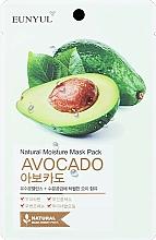 Parfums et Produits cosmétiques Masque tissu à l'extrait d'avocat pour visage - Eunyul Natural Moisture Mask Pack Avocado