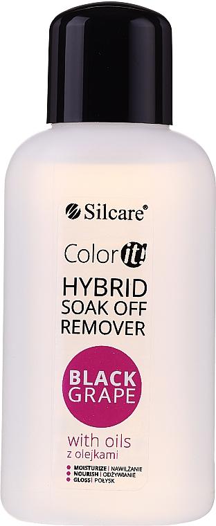 Dissolvant pour vernis semi-permanent - Silcare Soak Off Remover Black Grape