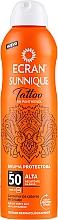 Parfums et Produits cosmétiques Brume solaire pour tatouages - Ecran Sunnique Tattoo Protective Mist SPF50