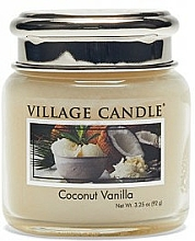 Parfums et Produits cosmétiques Bougie parfumée en jarre Noix de coco et Vanille - Village Candle Coconut Vanilla