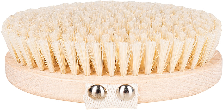 Brosse de massage et de bain, fibre douce, marron clair - Miamed