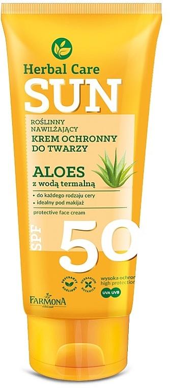 Crème solaire à l'aloe vera pour visage - Farmona Herbal Care Sun SPF 50
