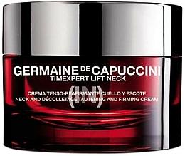 Parfums et Produits cosmétiques Crème raffermissante à l'extrait d'Edelweiss pour cou et decolleté - Germaine de Capuccini TimExpert Lift (In) Neck Tautening & Firming Cream
