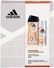 Parfums et Produits cosmétiques Adidas Adipower Men - Lot (gel douche / 250ml + spray déodorant / 150ml)