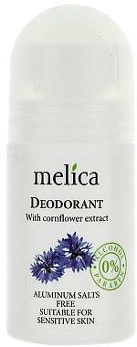 Déodorant roll-on à l'extrait de bleuet - Melica Organic With Cornflower Extract Deodorant