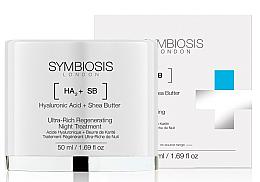 Parfums et Produits cosmétiques Crème de nuit à l'acide hyaluronique et beurre de karité - Symbiosis London Ultra-Rich Regenerating Night Treatment