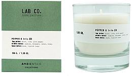 Parfums et Produits cosmétiques Bougie parfumée, Poivre et Iris - Ambientair Lab Co. Pepper & Iris