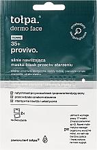 Parfums et Produits cosmétiques Masque lumineux anti-âge, hydratation intense, visage 35+ - Tolpa Dermo Face Provivo 35+ Mask