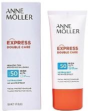 Parfums et Produits cosmétiques Fluide solaire pour visage - Anne Moller Double Care Ultralight Facial Protection Fluid SPF50