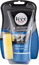 Parfums et Produits cosmétiques Crème dépilatoire sous la douche, peaux sensibles - Veet Men Silk & Fresh Hair Removal Cream