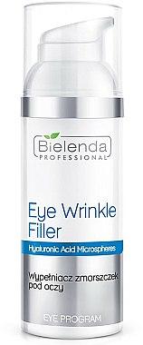 Traitement à l'acide hyaluronique pour le contour des yeux - Bielenda Professional Program Eye Wrinkle Filler