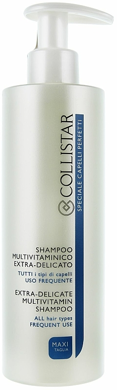 Shampooing multivitamines extra-délicat tous types de cheveux, usage quotidien - Collistar Extra-Delicate Micellar Shampoo — Photo N5