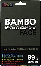 Parfums et Produits cosmétiques Masque tissu à l'extrait de bambou pour visage - Beauty Face Cleansing & Refreshing Compress Mask For Man