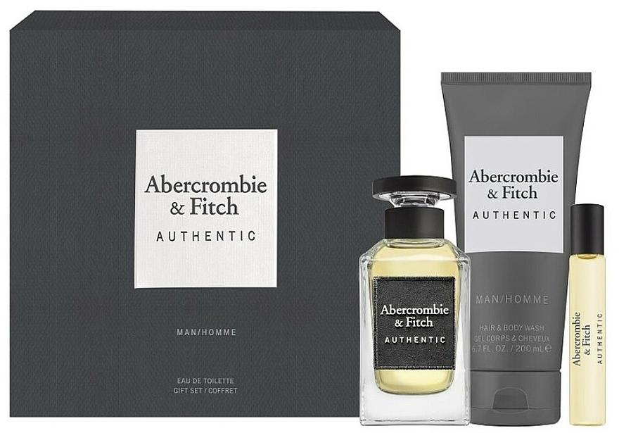 Abercrombie & Fitch Authentic Men - Coffret (eau de toilette/100ml + eau de toilette/15ml + gel nettoyant pour corps et cheveux/200ml)