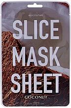 Parfums et Produits cosmétiques Masque tissu en tranches à l'huile de coco pour visage - Kocostar Slice Mask Sheet Coconut