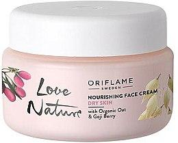 Parfums et Produits cosmétiques Crème nourrissante à l'avoine bio et baie de goji pour visage - Oriflame Love Nature