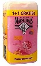 Parfums et Produits cosmétiques Lot de 2 douche crème Framboise et pivoine - Le Petit Marseillais (douche crème/2x 250ml)