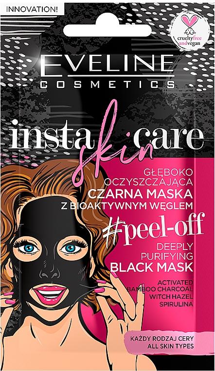 Masque à bulles au charbon actif pour visage - Eveline Cosmetics Insta Skin Care #Peel Off — Photo N1