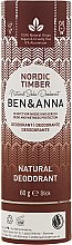 Parfums et Produits cosmétiques Déodorant naturel au bicarbonate de soude Bois nordique (tube en carton) - Ben & Anna Natural Soda Deodorant Paper Tube Nordic Timber