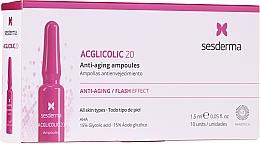 Parfums et Produits cosmétiques Ampoules à l'acide glycolique pour visage - SesDerma Laboratories Acglicolic Anti-Aging Flash Effect Ampoules