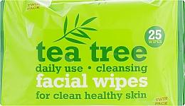 Parfums et Produits cosmétiques Lingettes nettoyantes pour visage - Xpel Marketing Ltd Tea Tree Facial Wipes For Clean Healthy Skin