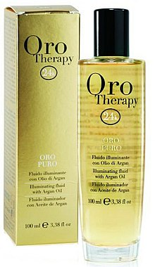 Fluide illuminant à l'huile d'argan et or - Fanola Oro Therapy Fluido Oro Puro