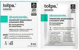 Parfums et Produits cosmétiques Lingettes nettoyantes aux acide AHA pour visage - Tolpa Estetic Exfoliating Wipe