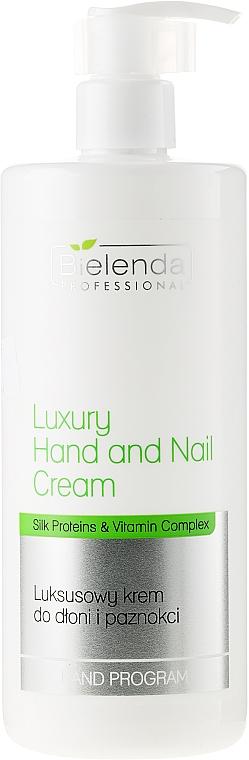 Crème aux protéines de soie et vitamines pour mains et ongles - Bielenda Professional Luxury Hand and Nail Cream