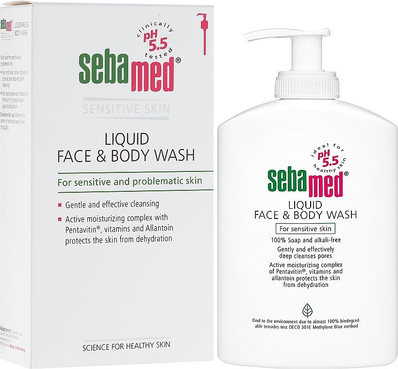 Fluide nettoyant au panthénol pour visage et corps - Sebamed Liquid Face and Body Wash