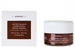 Parfums et Produits cosmétiques Crème de jour au chataîgnier d'Arcadie - Korres Castanea Arcadia Antiwrinkle&Firming Day Cream For Dry and Very Dry Skin